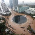 首都ジャカルタの洪水被害